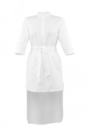 Платье-рубашка Asya Malbershtein. Цвет: белый