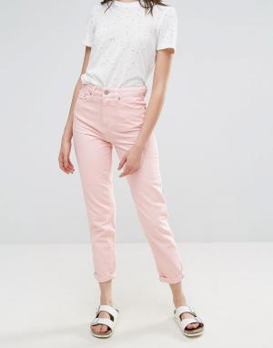 Waven Розовые джинсы в винтажном стиле Elsa. Цвет: розовый