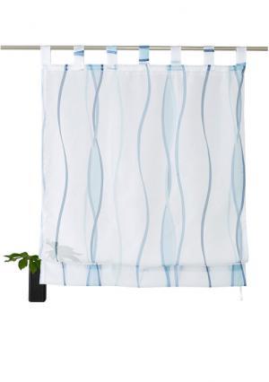 Римская штора Dimona MY HOME. Цвет: белый/серебристый