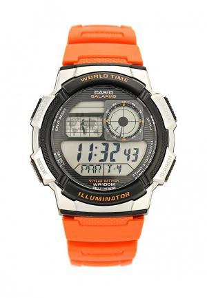 Часы Casio. Цвет: оранжевый