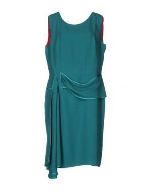Платье до колена IVAN MONTESI. Цвет: цвет морской волны
