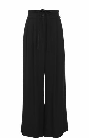 Укороченные широкие брюки с защипами Marc Jacobs. Цвет: черный