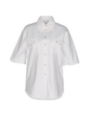 Pубашка DAIZY SHELY. Цвет: белый