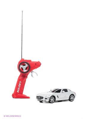 Машина р/у Mercedes-Benz-SLS-AMG AULDEY. Цвет: серебристый