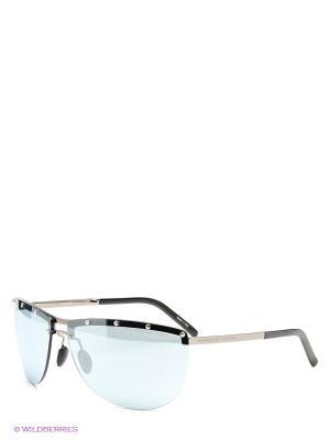 Солнцезащитные очки Porsche Design. Цвет: черный, голубой