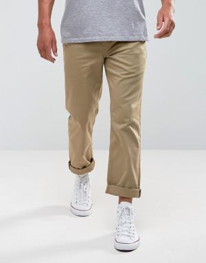 LEVIS SKATEBOARDING Рабочие брюки классического кроя. Цвет: светло-бежевый