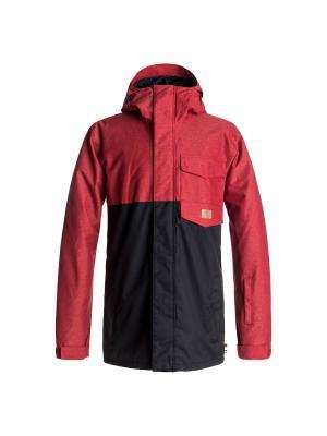 Куртка DC Shoes. Цвет: темно-красный