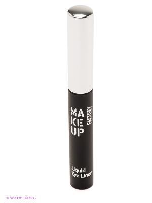 Подводка для глаз, тон 16, серебрянный Make up factory. Цвет: черный