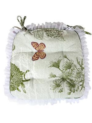 Набор из 2-х сидушек-трапеций Лоскутклаб. Цвет: зеленый, белый