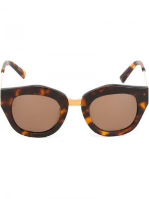 Солнцезащитные очки Mon Amour Spektre. Цвет: коричневый