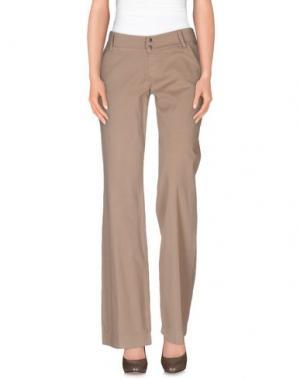 Повседневные брюки SOUVENIR. Цвет: песочный