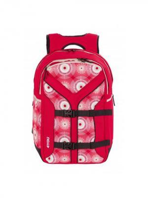 Рюкзак 4YOU BOOMERANG Спортивный хаос. Цвет: красный