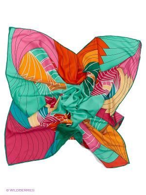 Платок Sabellino. Цвет: зеленый, кремовый, оранжевый, фуксия
