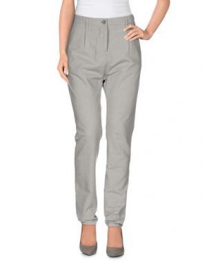 Повседневные брюки NOVEMB3R. Цвет: светло-серый