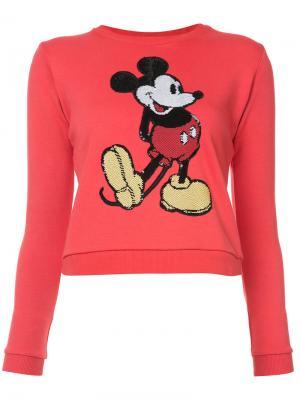 Свитер с вышивкой Микки Мауса Marc Jacobs. Цвет: красный