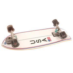 Скейт круизер  C7 Complete Usa Booster Assorted 9.5 x 30 (76.2 см) Carver. Цвет: белый,серый