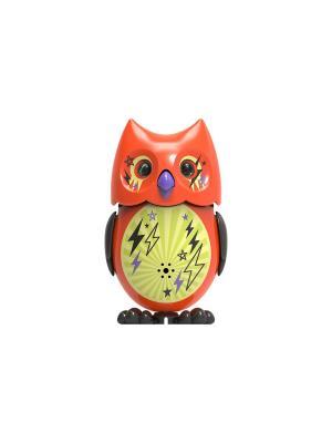 Сова с кольцом, оранжевая черными крыльями Silverlit. Цвет: оранжевый, черный