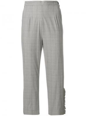 Укороченные брюки в клетку  IM Isola Marras I'M. Цвет: серый