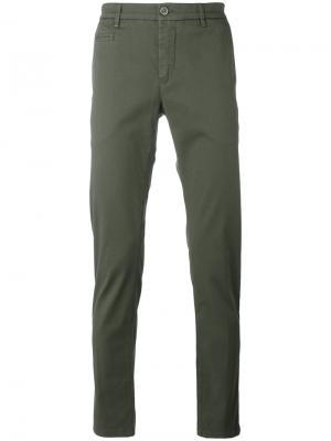 Slim-fit trousers Re-Hash. Цвет: зелёный