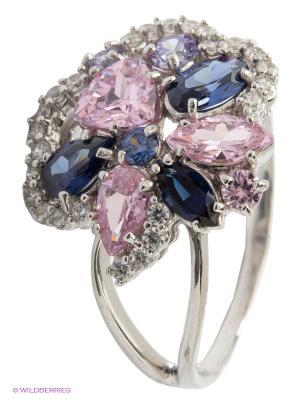 Кольцо Lovely Jewelry. Цвет: голубой, серебристый, сиреневый