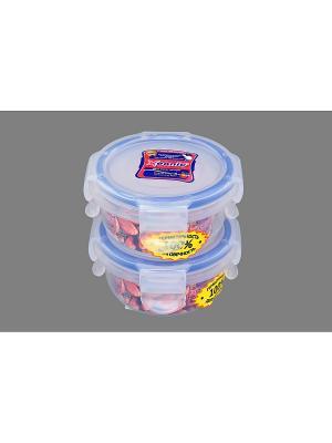 Набор 2-х герметичных контейнеров 90 мл XEONIC CO LTD. Цвет: прозрачный, синий