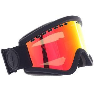 Маска для сноуборда  Egv Matte Black+bl/Brose/Red Chrome Electric. Цвет: черный