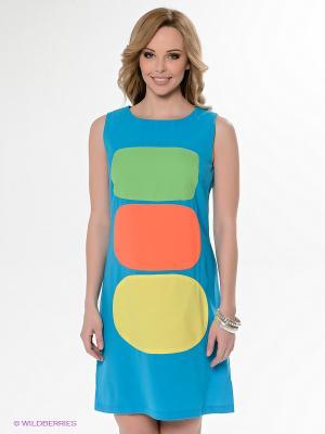 Платье Neohit. Цвет: голубой, оранжевый