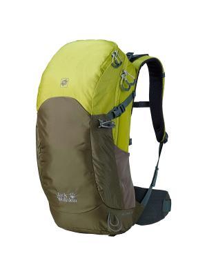 Рюкзак EDS DYNAMIC 28 PACK Jack Wolfskin. Цвет: оливковый