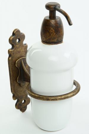 Дозатор для жидкого мыла Stilars. Цвет: коричневый