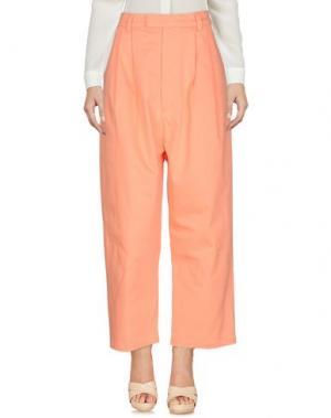 Повседневные брюки P.A.M. PERKS AND MINI. Цвет: лососево-розовый