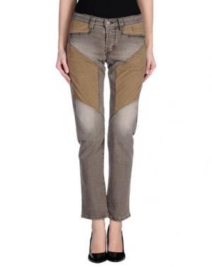 Джинсовые брюки 9.2 BY CARLO CHIONNA. Цвет: голубиный серый