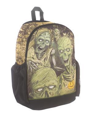 Рюкзак Walking Dead светящийся в темноте Mojo Backpacks. Цвет: черный, зеленый
