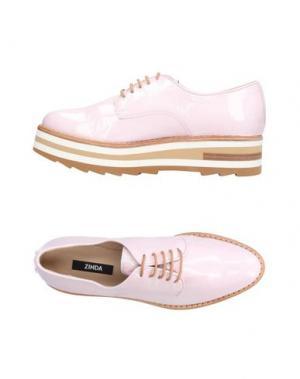 Обувь на шнурках ZINDA. Цвет: розовый
