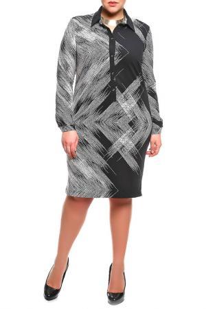 Платье Forus. Цвет: черный, белый