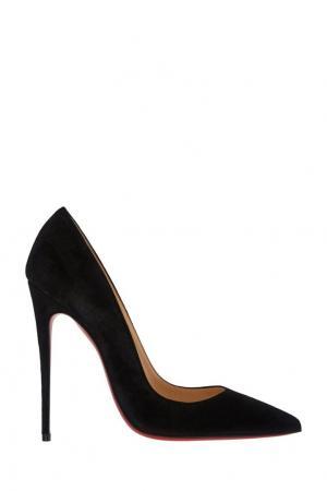 Замшевые туфли So Kate 120 Christian Louboutin. Цвет: черный