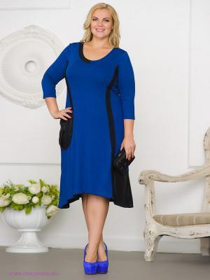Платье Gemko plus size 13034/SAX