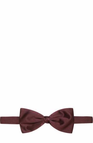 Шелковый галстук-бабочка Ermenegildo Zegna. Цвет: бордовый