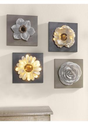Декоративный цветок Heine Home. Цвет: мак, нарцисс, подсолнечник, роза