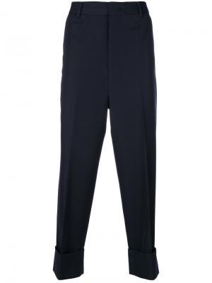 Широкие классические брюки Wooyoungmi. Цвет: синий