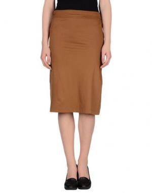 Юбка до колена MANILA GRACE. Цвет: коричневый
