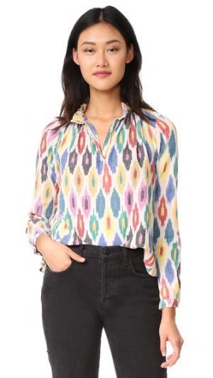 Блуза Casey Warm. Цвет: радужный принт икат