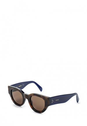 Очки солнцезащитные Celine. Цвет: коричневый