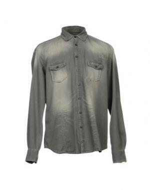 Джинсовая рубашка HAMAKI-HO. Цвет: серый