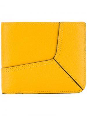 Бумажник с панельным дизайном Maison Margiela. Цвет: жёлтый и оранжевый