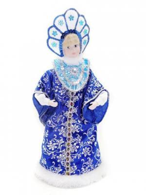 Кукла Снегурочка 28 см под елку, син. Новогодняя сказка. Цвет: синий, белый