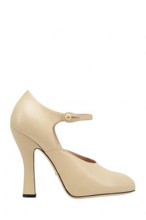 Кожаные туфли Gucci. Цвет: none