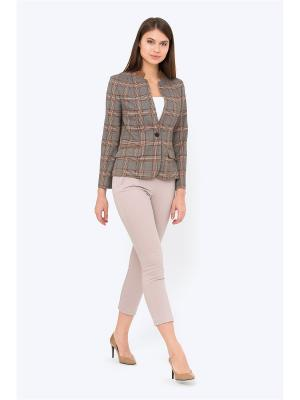 Жакет EMKA FASHION. Цвет: серый, бронзовый, хаки
