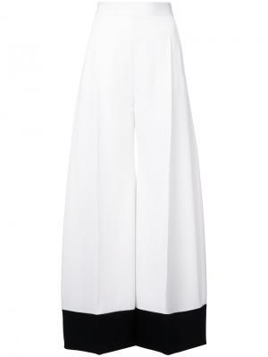Широкие брюки с контрастным низом Racil. Цвет: телесный
