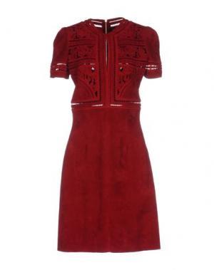 Короткое платье JITROIS. Цвет: кирпично-красный
