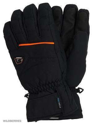 Перчатки Ziener. Цвет: черный, оранжевый